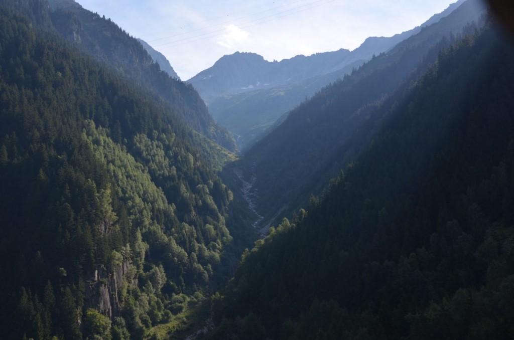 Avec la bonne lumière les vallées encaissées sont vraiment très très belles